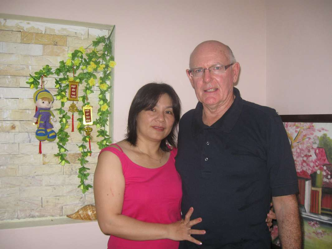 Hello everybody!<br><br>We met on Asiankisses - then I visited her and her family in Vietnam for 4 weeks - After that I returned to Vietnam and got married with my wife there.<br><br>Now she came here...